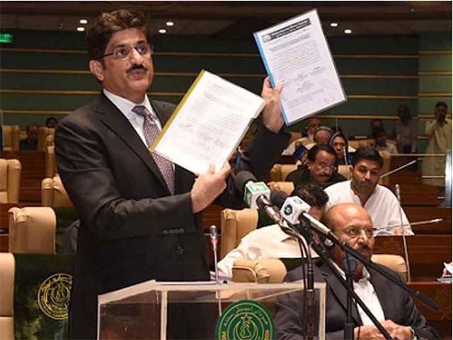 In the budget speech Chief Minister Syed Murad Ali Shah noted that the current fiscal year has been a year of phenomenal changes both within and outside the country. PHOTO: APP