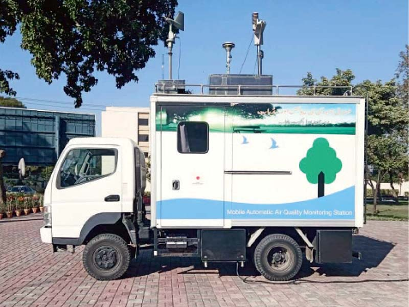 Mobile air quality monitoring stations set up