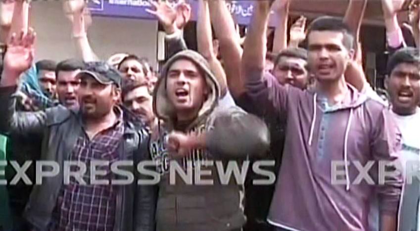 deported pakistanis protesting against the bahrain government photo express