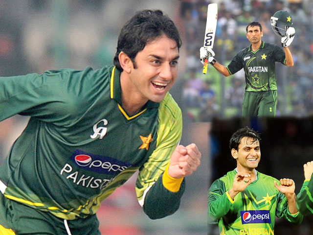 saeed ajmal and muhammad hafeez rank no 1 and no 4 respectively in odi bowlers ranking while younus khan ranks no 9 in test batsmen rankings