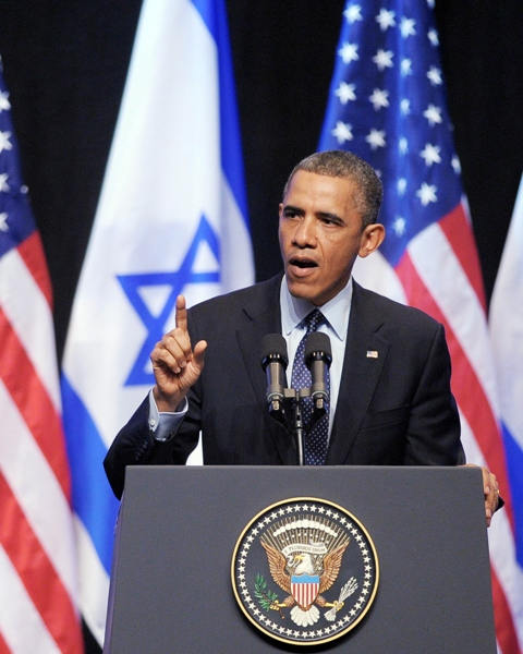 us president barack obama delivers a speech to the israeli people at the jerusalem international convention center in jerusalem on march 21 2013 photo afp