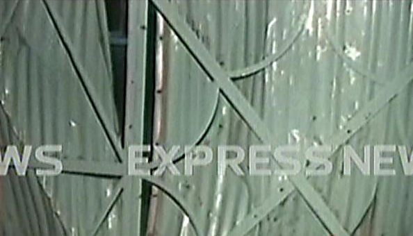 the blast damaged the gate of an advertising office