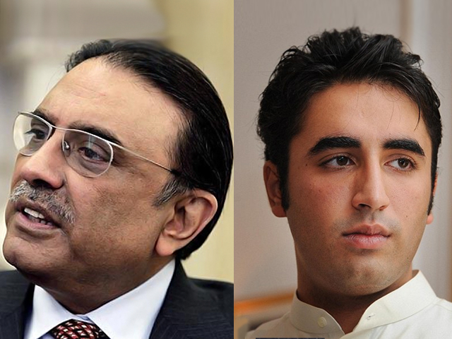 file photos of asif ali zardari and bilawal bhutto zardari
