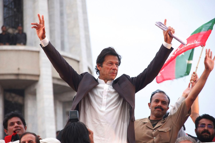 pti chairman imran khan during a rally in lahore photo abid nawaz express