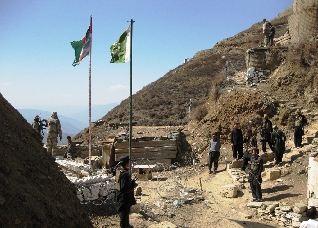 Pakistan says it is renovating its old chekpost Gursal, not building a new one. PHOTO: EXPRESS/FILE