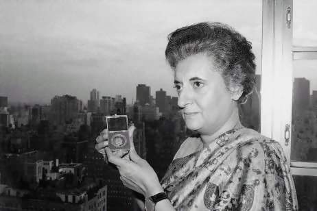 Indira Gandhi, the former Indian prime minister, in 1974. PHOTO: AFP