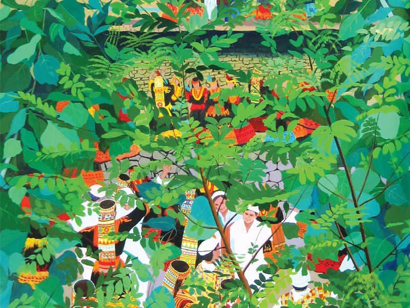 """""""Back in 1980s, miniature was dying and I did not realise it until a team of Chinese artists visiting Lahore asked to see traditional art forms,"""" says Zaidi."""