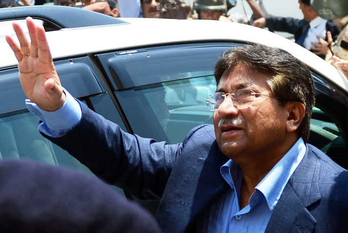 the appeal will seek both bail and the exclusion of terror charges added by the ihc against the former president says musharraf s counsel photo afp