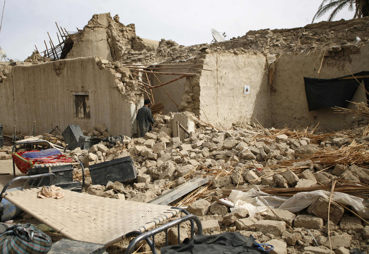 the 7 8 magnitude quake sent shockwaves that spread as far as lahore and karachi though most of the damage took place in balochistan s remote mashkhel district photo reuters
