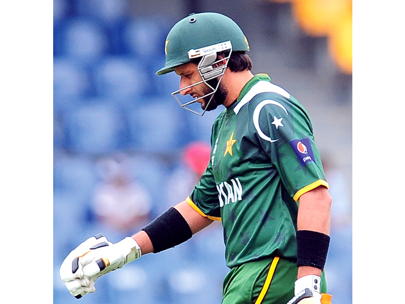 afridi who was earlier left out of the squad that toured india made 126 runs in four innings but went wicketless in five odis against south africa after being recalled photo afp