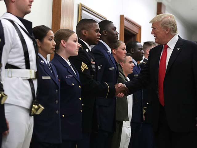 President Donald Trump reversed an Obama-era rule that would have allowed transgender people to serve openly in the military. PHOTO: GETTY