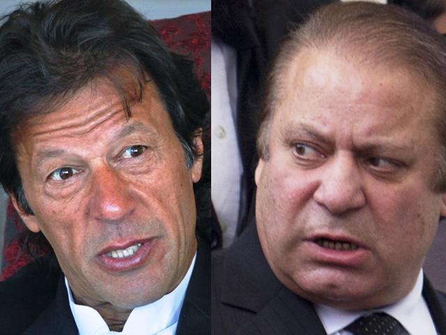 Imran Khan (L) and Nawaz Sharif (R). PHOTO: REUTERS/EXPRESS