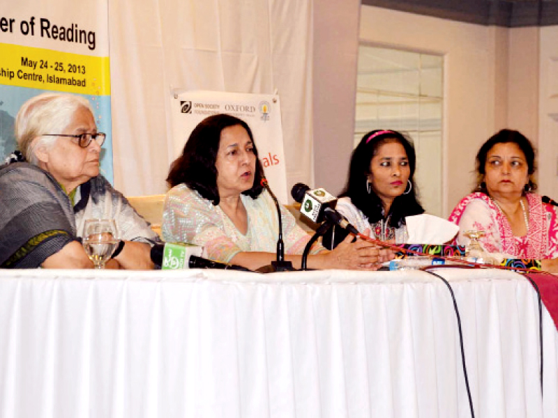 The panel talks about the letter to the prime minister, asking for a waiver in venue cost. PHOTO: INP