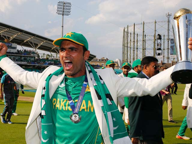 Fakhar Zaman was named Man of the Final, India v Pakistan, Final, Champions Trophy 2017, The Oval, London, June 18, 2017. PHOTO: GETTY
