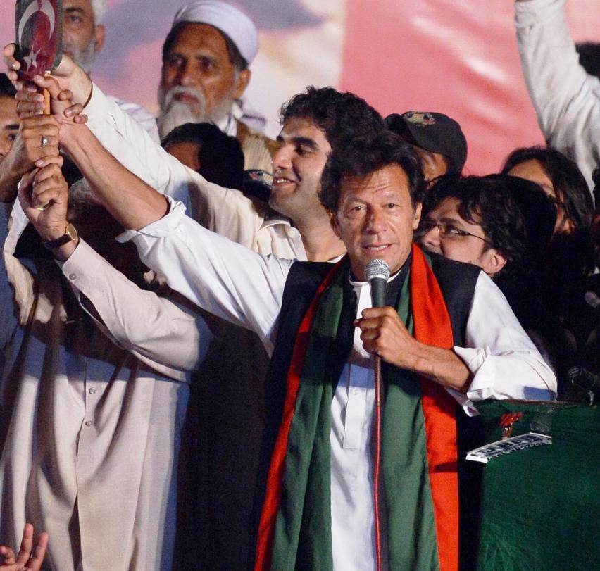 pakistan tehreek e insaf chairman imran khan photo afp