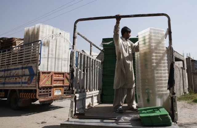 Disposing of the waste collected in bins and containers at polling stations will be LWMC's  top priority. PHOTO: REUTERS