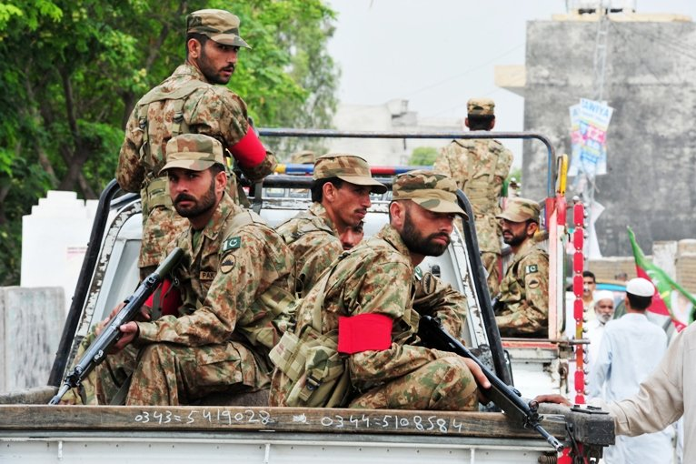 On May 11, around 10,000 army personnel were deployed in Karachi. PHOTO: AFP