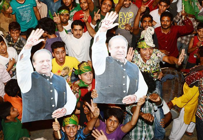 the pml n got the majority of total votes followed by pti and the ppp photo afp file