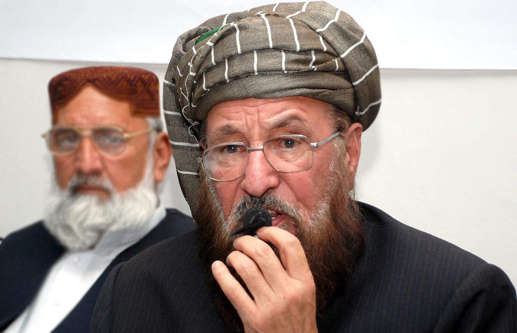 jui s chief maulana samiul haq condemned waliur rehman s killing saying the incident had sabotaged the peace process between the militants and the pakistani government photo inp