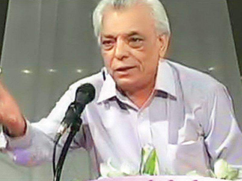 Riazur Rehman Saghar.  PHOTO: FILE