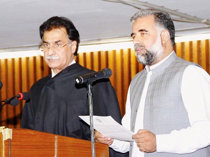speaker ayaz sadiq administers oath to his deputy murtaza javed abbasi photo online