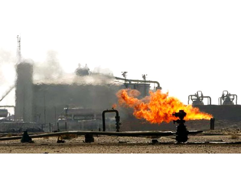 Pakistan's total recoverable gas reserves stand at around 14.772 trillion cubic feet whereas daily production averages around 4,000 million cubic feet. PHOTO: FILE