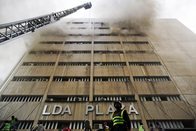 lda officials said the decision whether or not to demolish the fifth and sixth floors would be taken later photo reuters