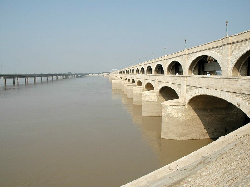both sukkur barrage above and guddu barrage are in need of an overhaul according to a survey report on the modernisation of sukkur barrage photo file
