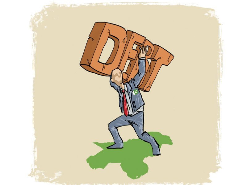 The payment of the rest of the circular debt owed to the public sector will be cleared by the end of July.  ILLUSTRATION: JAMAL KHURSHID