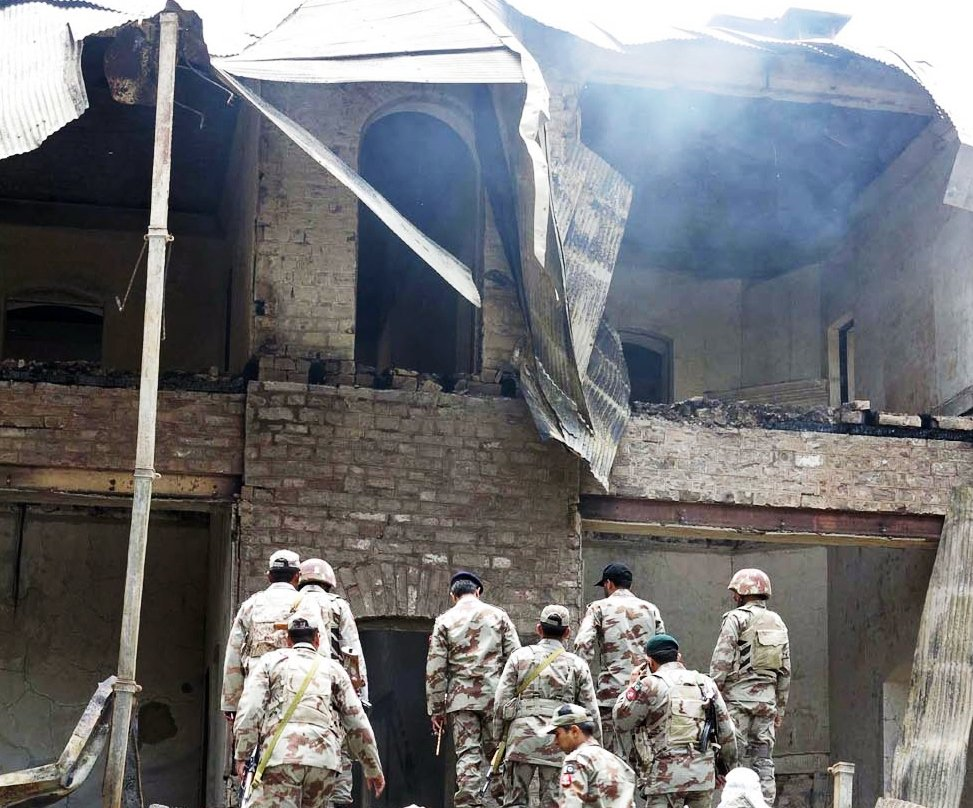 militants from the balochistan liberation army destroyed the ziarat residency where quaid e azam muhammad ali jinnah spent his last days photo inp