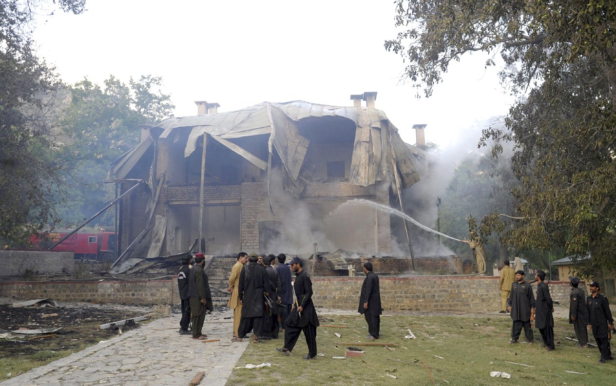 Militants blew up Jinnah's residency in Ziarat on Saturday. PHOTO : AFP