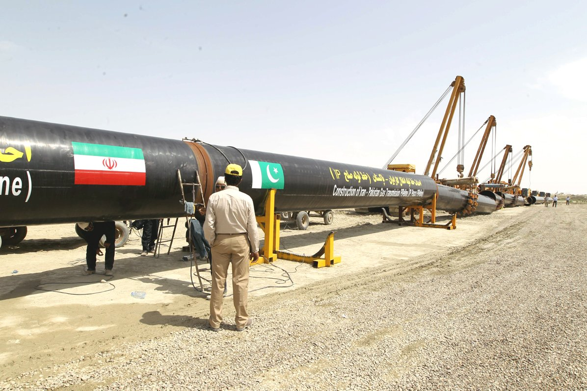 The IP pipeline was inaugurated by the President in March. PHOTO: AFP