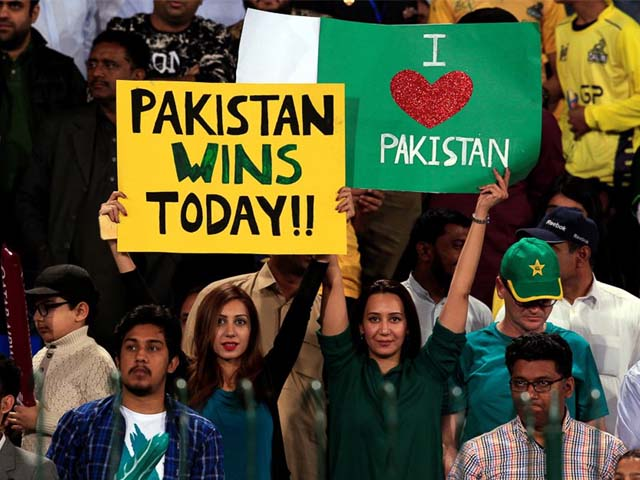 Jordan says he was impressed by the passionate support from the crowd in Lahore. PHOTO: REUTERS