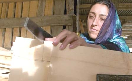 female artisans working on different wooden works in hunza photo express