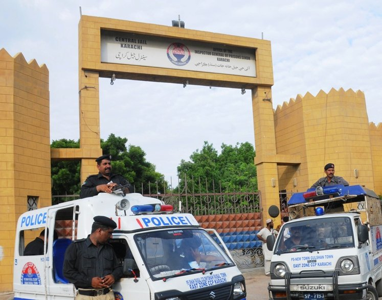 law enforcers search central jail