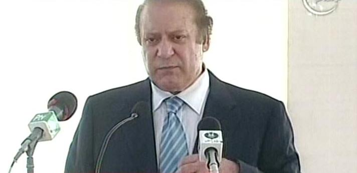prime minister nawaz sharif speaking at a press conference in karachi on august 1 2013 photo express