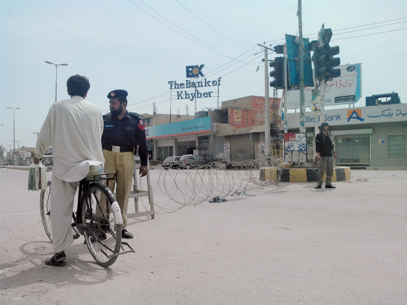 the district administration lifted the curfew in both districts at 6am photo courtesy adnan bhaittani