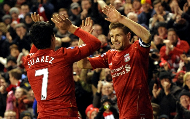 i d say to luis give it one more year see if we can achieve that says gerrard photo afp