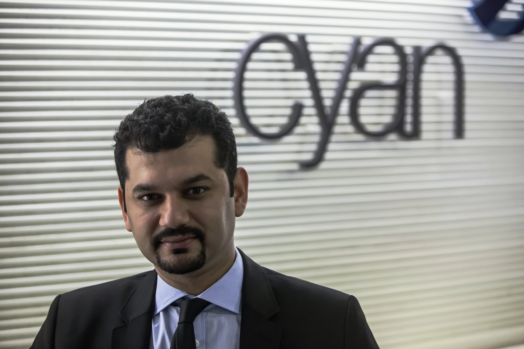 shaharyar ahmed principal and co head of growth equity for cyan capital poses for a photograph during a meeting at his office in karachi july 19 2013 photo reuters