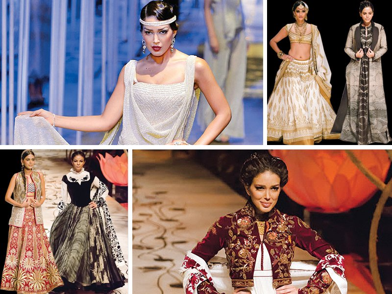 beauties from india 039 s annual bridal fashion week