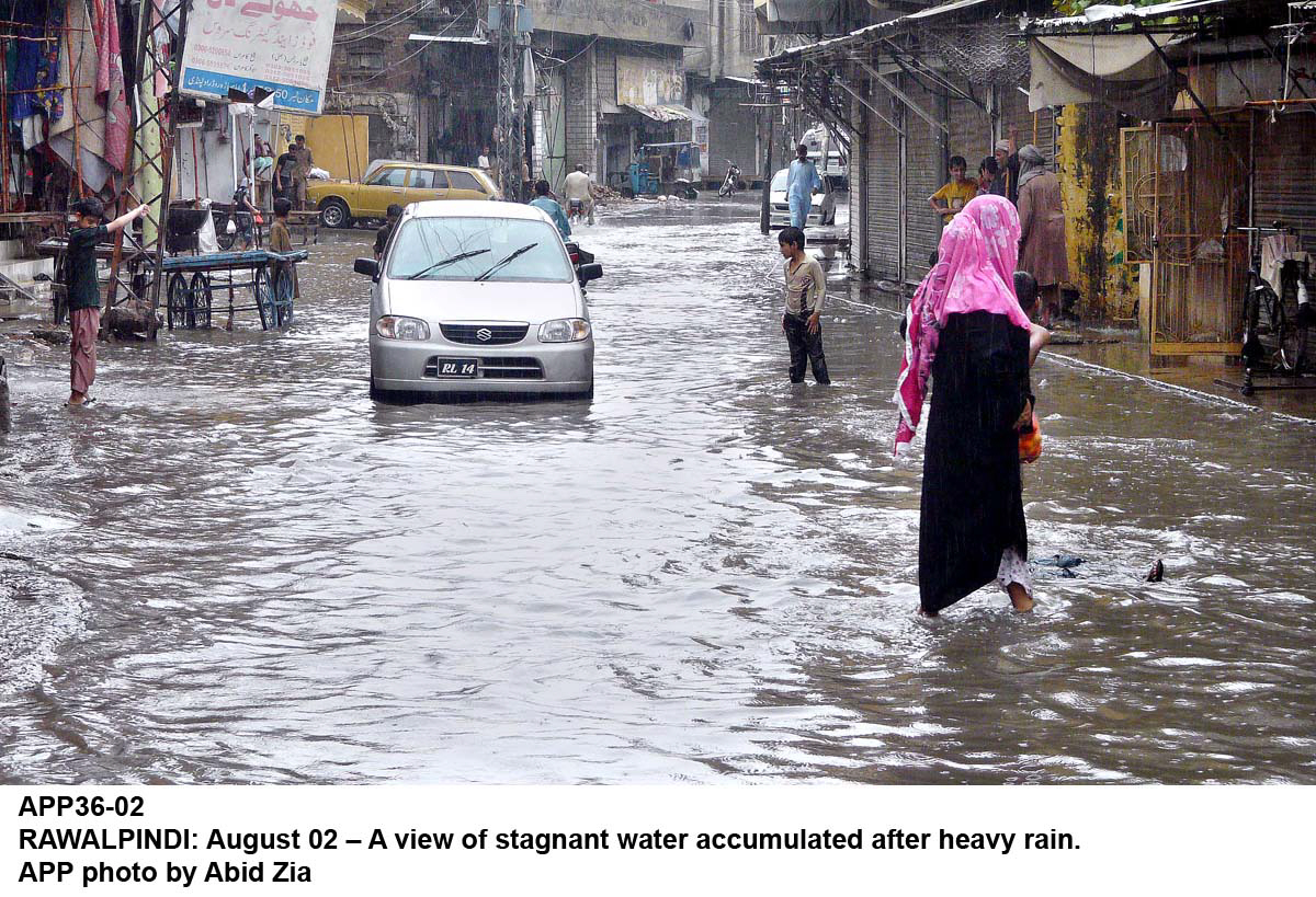 minor damage from flooding of residential areas was reported in some areas of rawalpindi photo app