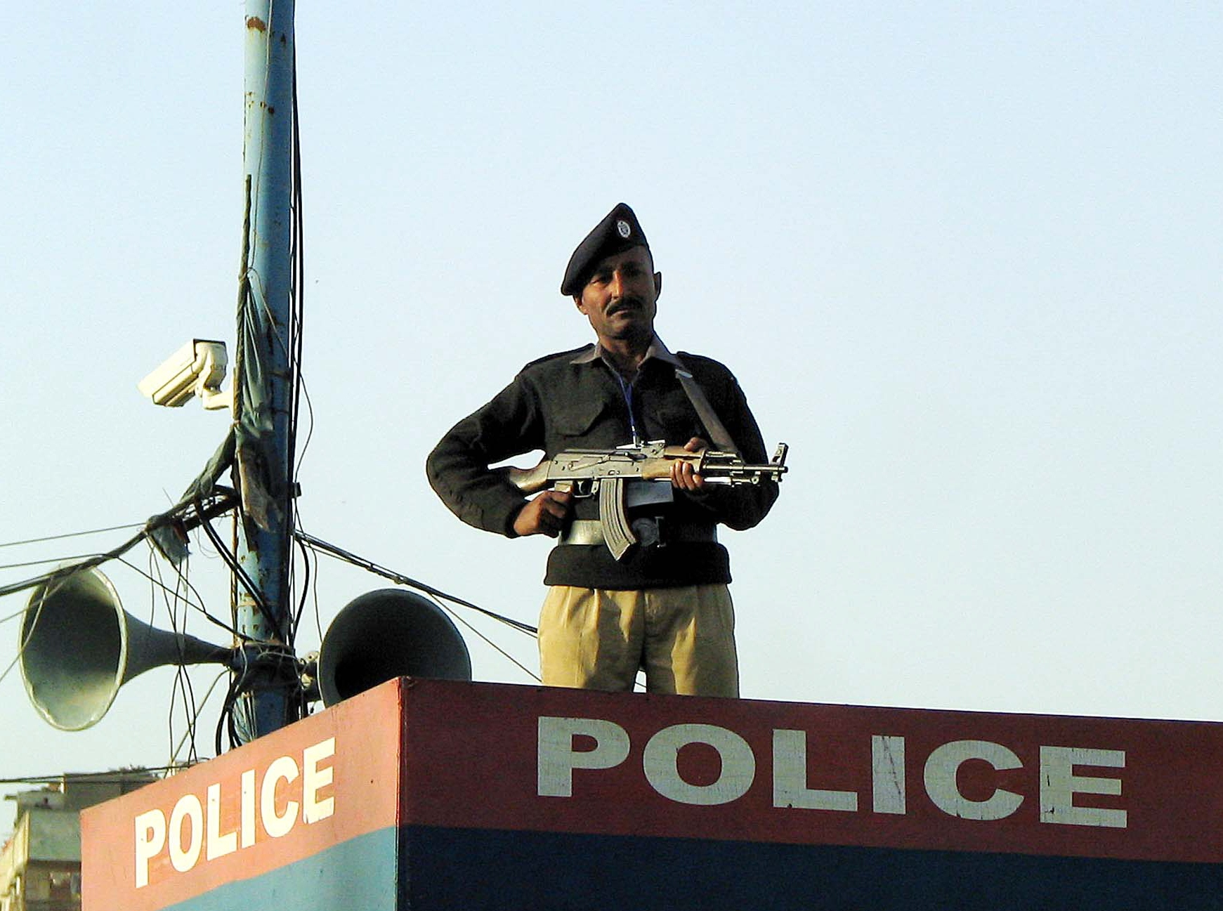 a file photo of a police check post photo ppi
