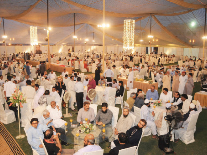 there was a lavish buffet for the guests in attendance which included a large number of personalities from the media at the iftar hosted by mqm on friday photo mohammad noman express