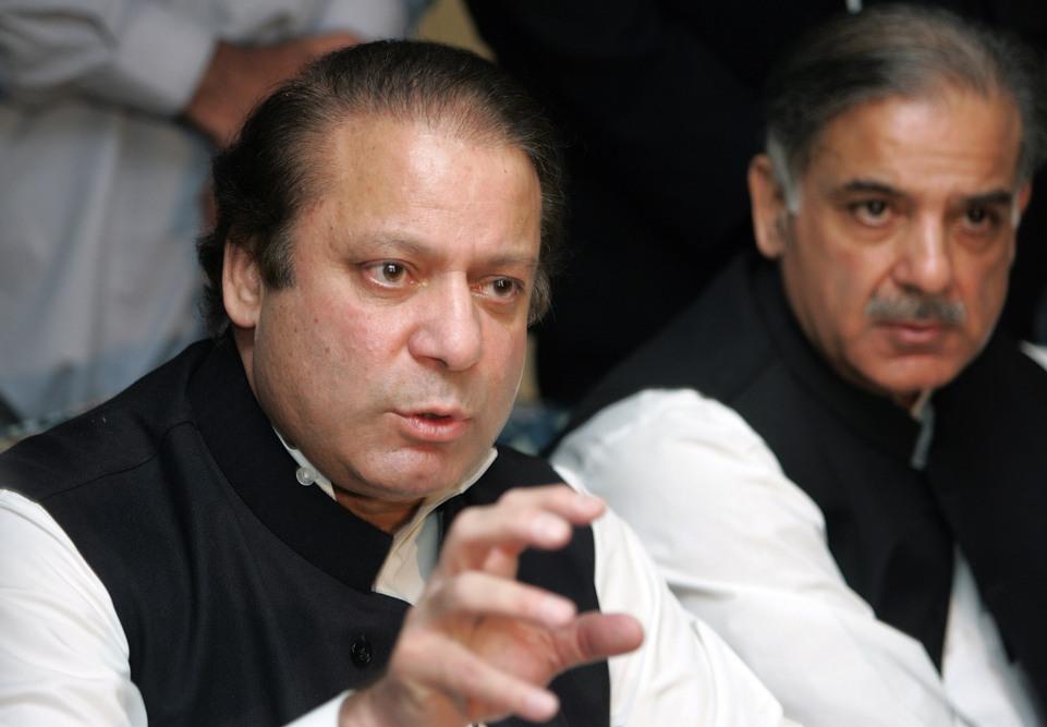 nawaz and shahbaz sharif photo tmn file