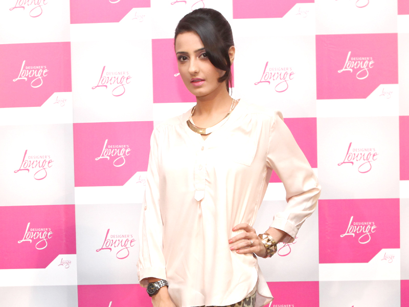 actor and model momal sheikh at the launch of multi label store designer s lounge