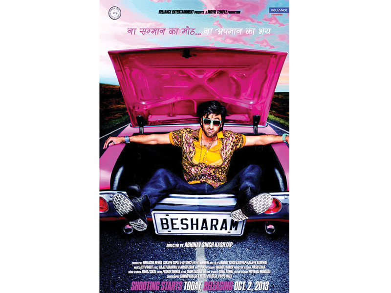the trailer of ranbir 039 s most talked about movie besharam has caused quite a stir online