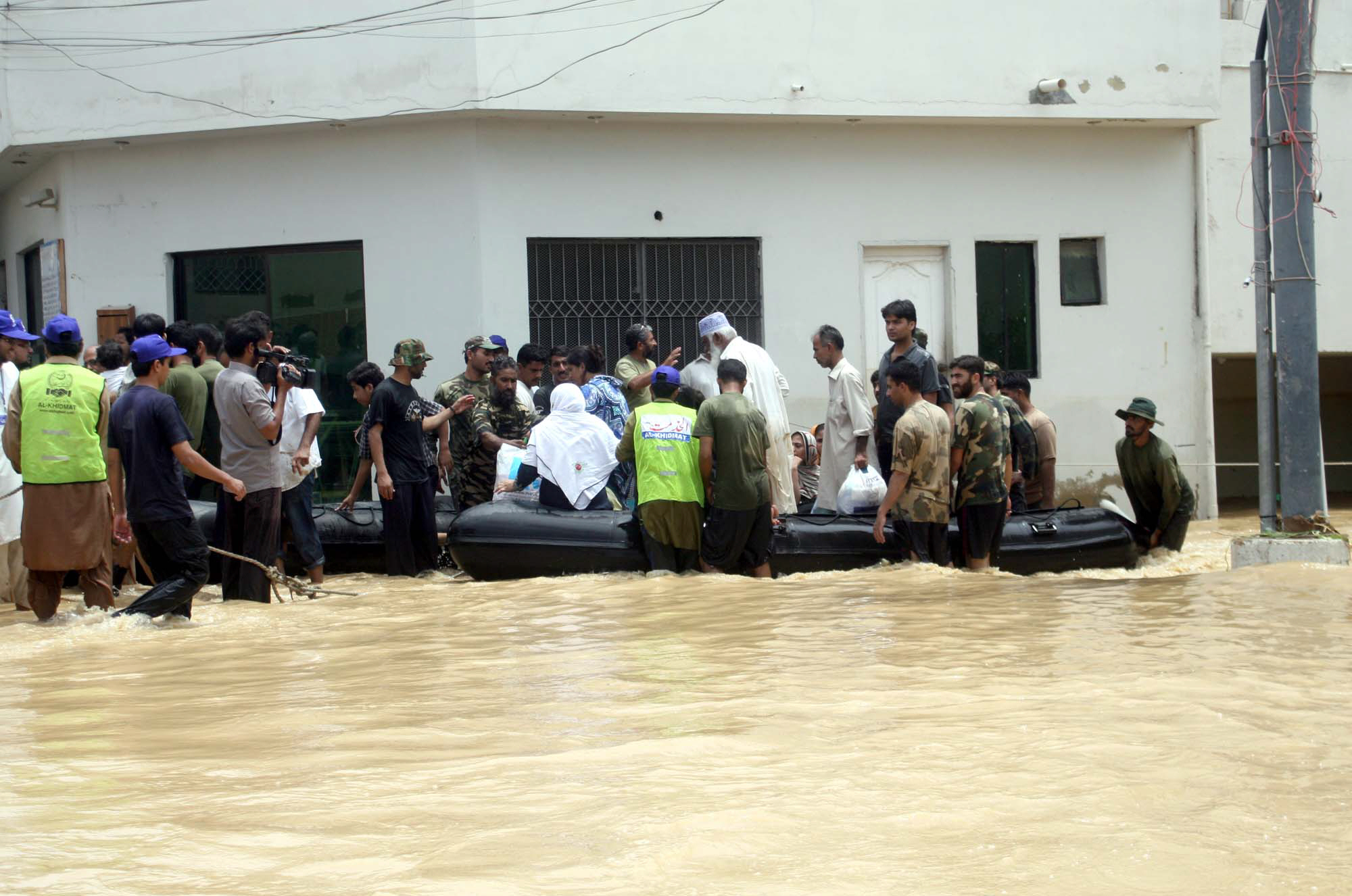 """The trapped people were later taken to safer places,"" a military spokesperson told The Express Tribune. PHOTO: NNI."