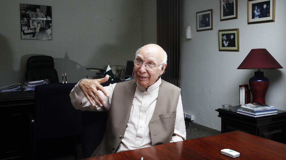 for us the afghan reconciliation process is important not the location says prime minister s adviser on national security and foreign affairs sartaj aziz photo reuters