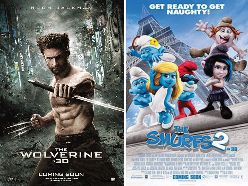 the wolverine finished second smurfs 2 finished third and horror film the conjuring came in fourth photos file