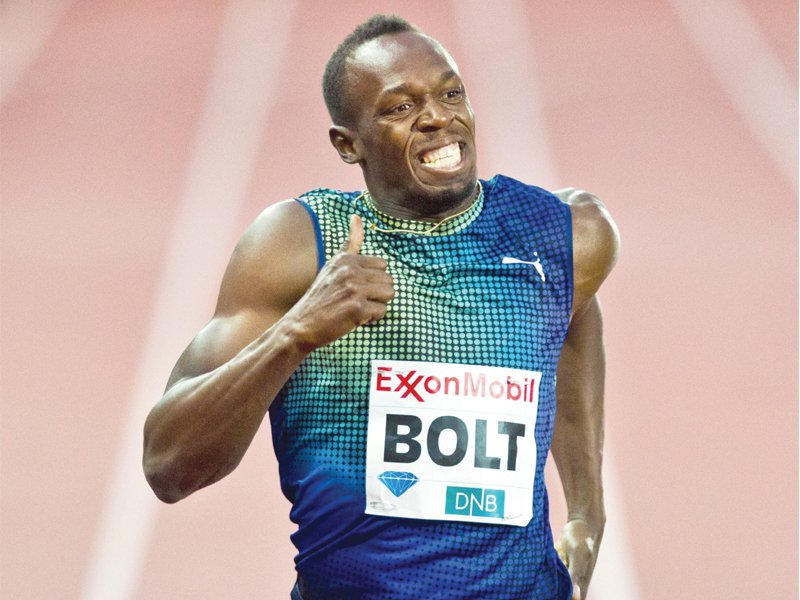 i m motivated to go and show the world that even without nobody there i can still win so i m focused and i m ready to go says bolt photo afp